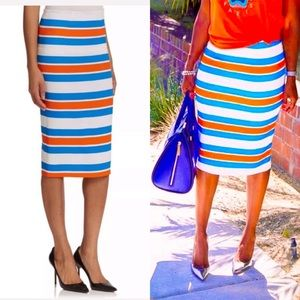 Tanya Taylor Striped stretch skirt size 8 NWT